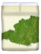 Austria Grass Map Duvet Cover by Aged Pixel