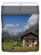 Austrian Cottage Duvet Cover by Debra and Dave Vanderlaan
