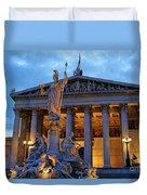 Austrian Parliament Building Duvet Cover