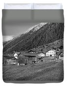Austrian Village Monochrome Duvet Cover