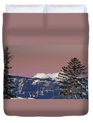 Austrian Winter Scenic Panorama Duvet Cover