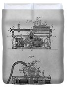Authentic Thomas Edison Phonograph Patent Duvet Cover