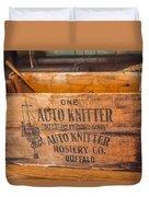 Auto Knitter Box Duvet Cover