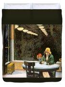 Automat Duvet Cover by Edward Hopper