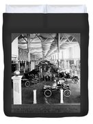 Automobile Display, 1904 Duvet Cover