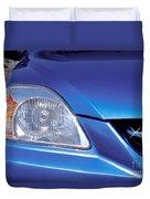 Automobile Head Light Blue Car Duvet Cover