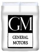 Automobiles Gm Logo Duvet Cover