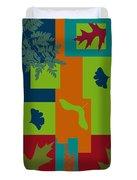 Autumn Abstract A La Matisse Duvet Cover