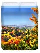 Autumn Across The Hills Duvet Cover