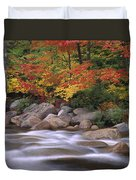 Autumn Along Swift River  Duvet Cover