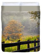 Autumn Along The Fence Duvet Cover