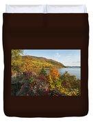 Autumn Along The Hudson Duvet Cover