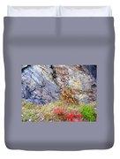 Autumn And Rocks Duvet Cover