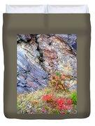 Autumn And Rocks Vertical Duvet Cover