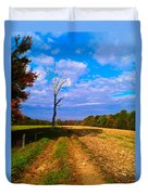 Autumn And The Tree Duvet Cover