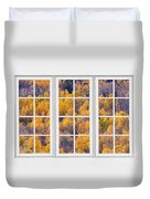 Autumn Aspen Trees White Picture Window View Duvet Cover
