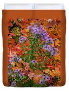 Autumn Asters Duvet Cover