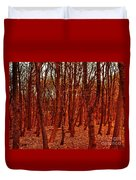 Autumn At Formby Woods  Duvet Cover