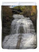 Autumn At Montour Falls Duvet Cover