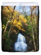 Autumn At Moss Glenn Falls Duvet Cover