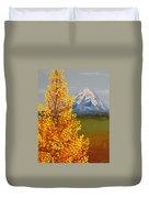 Autumn At Mt Shasta Duvet Cover