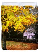 Autumn At Old Mill Duvet Cover