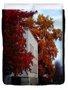 Autumn At The Grants Pass Courthouse Duvet Cover