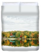 Autumn At The Lake - Pocono Mountains Duvet Cover by Vivienne Gucwa