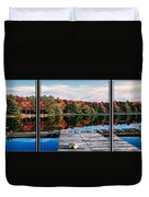 Autumn At The Pond Duvet Cover