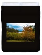 Autumn At The River Duvet Cover