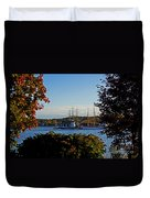 Autumn At The Seaport Duvet Cover