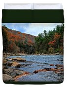 Autumn At The Youghiogheny Duvet Cover