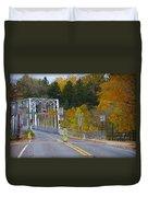 Autumn At Washington's Crossing Bridge Duvet Cover