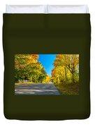 Autumn Back Road Duvet Cover