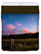 Autumn Barnyard Sunset Duvet Cover
