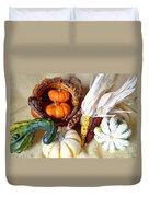 Autumn Basketful With Corn Duvet Cover