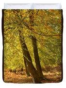 Autumn Beeches Duvet Cover