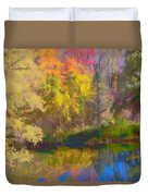 Autumn Beside The Pond Duvet Cover
