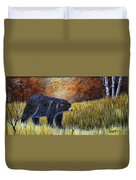 Autumn Black Bear Duvet Cover