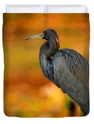 Autumn Blue Heron Duvet Cover