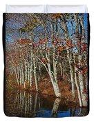 Autumn Blue Duvet Cover