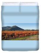 Autumn Blueberry Panorama Duvet Cover