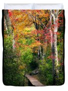 Autumn Boardwalk Duvet Cover by Bill Wakeley