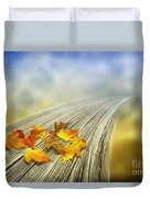 Autumn Bridge Duvet Cover by Veikko Suikkanen