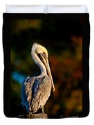 Autumn Brown Pelican Duvet Cover