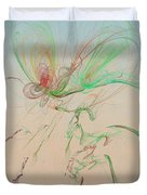 Autumn Butterfly Abstract Duvet Cover