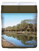 Autumn By The Erie Canal Duvet Cover