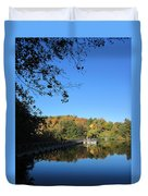 Autumn By The Lake 1 Duvet Cover