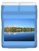 Autumn By The Triangle Lake In Stockholm Duvet Cover