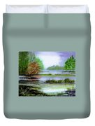 Autumn By The Lake  Duvet Cover